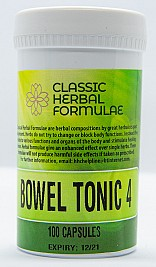 BOWEL TONIC No 4<br>(CAPSULES) - Constipation aid for inflammatory colon condition