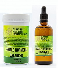 FEMALE HORMONAL BALANCER ONE MONTH COURSE (CAPSULES AND FLUID EXTRACT [DROPS])